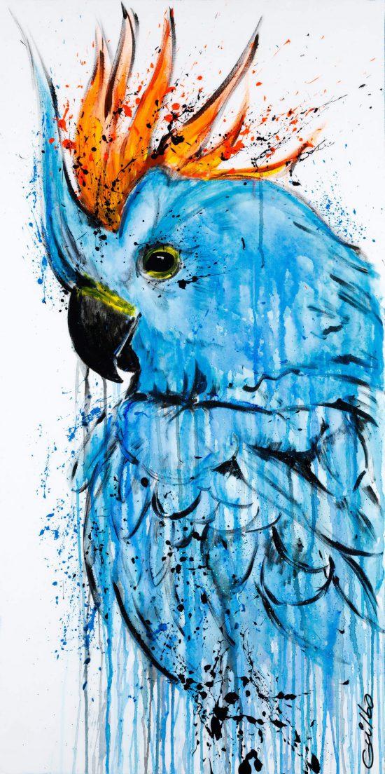 Blue en reproduction sur Acrylique