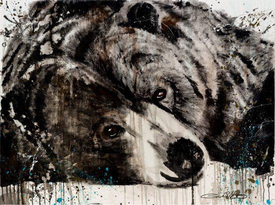 L'ours en reproduction sur Acrylique