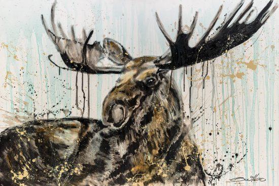 Moose en reproduction sur Acrylique